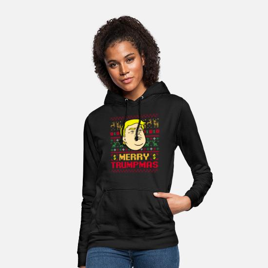 Donald Trump Hoodies & Sweatshirts - Merry Trumpmas - Women's Hoodie black