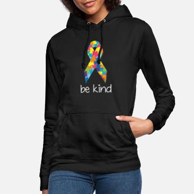 Be Kind Autism Awareness Day Ribbon Gentilezza Puzzl - Felpa con cappuccio donna