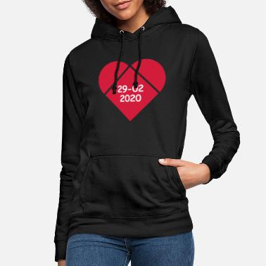 Leap year with heart - Women's Hoodie