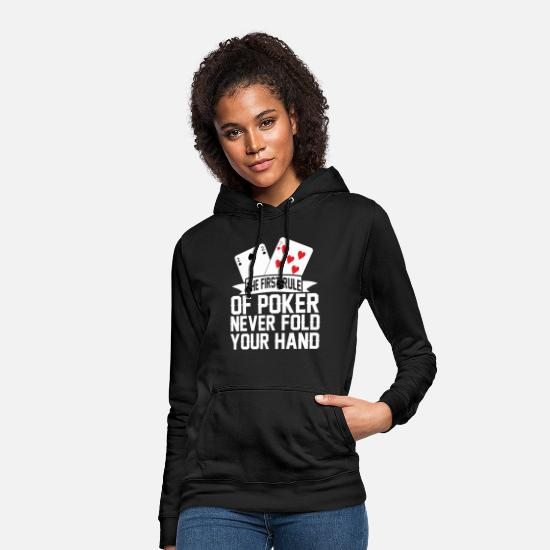 Birthday Hoodies & Sweatshirts - Poker game Texas Holdem Gift I Poker - Women's Hoodie black