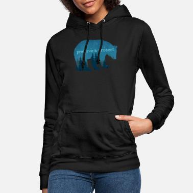 Nature Conservation Nature Conservation - Bear Nature Gift - Women's Hoodie