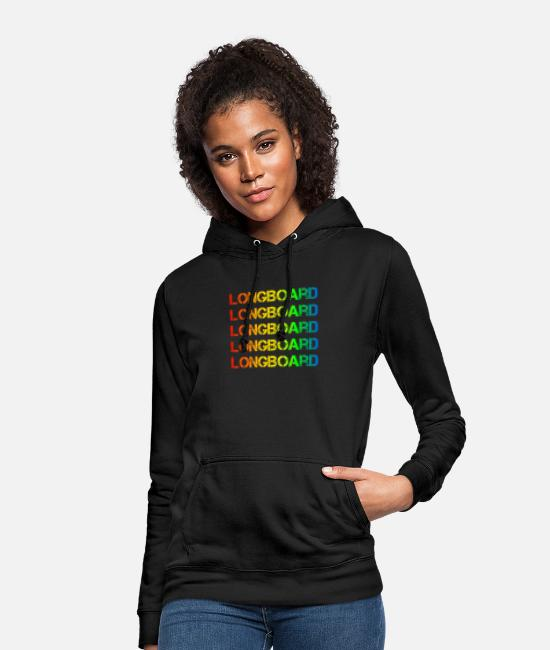 Birthday Hoodies & Sweatshirts - Longboarder - Women's Hoodie black