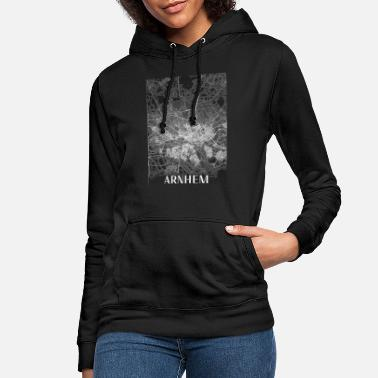 Arnhem city map map with streets - Women's Hoodie