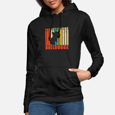 Vintage retro french bulldog - Women's Hoodie