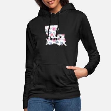 Department I Love Louisiana My Home Floral - Women's Hoodie
