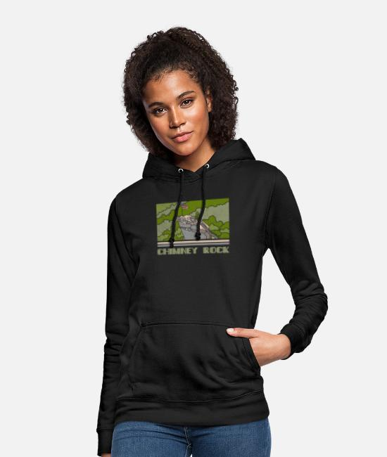 Nature Hoodies & Sweatshirts - Chimney Rock Shirt National Monument Nature Souven - Women's Hoodie black