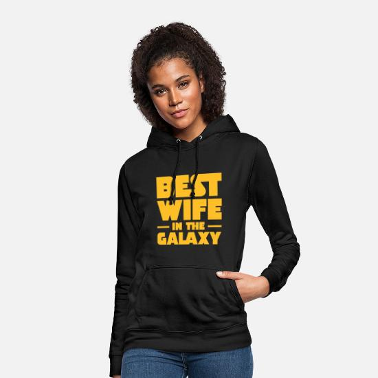 Galaxy Tröjor & hoodies - Best Wife In The Galaxy - Hoodie dam svart