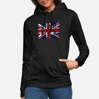 Angleterre rocker punk rock punker punk - Sweat à capuche Femme