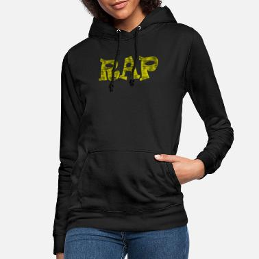 rap yellow black - Women's Hoodie
