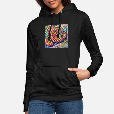 Hands feet and flowers - Women's Hoodie