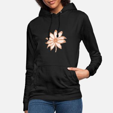 flower waterpaint rosegold - Sweat à capuche Femme