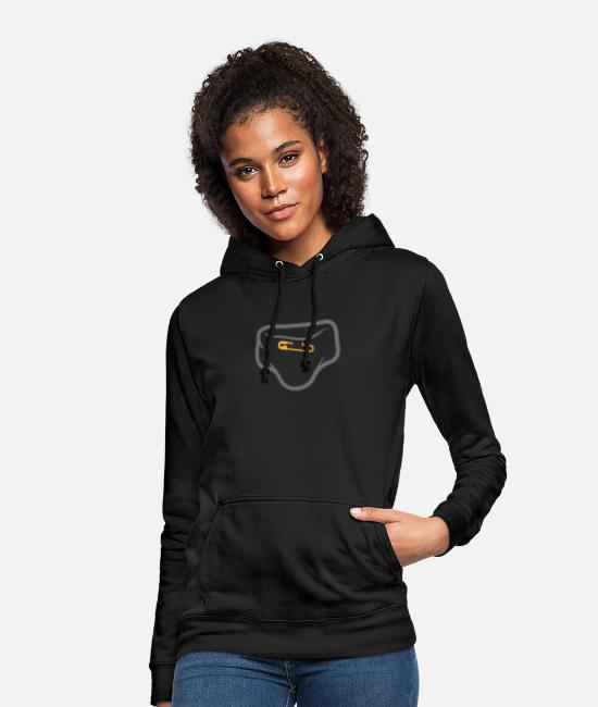 Shit Hoodies & Sweatshirts - Diaper With A Safety Pin - Women's Hoodie black