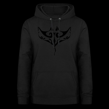 Manta ray tatoo - Women's Hoodie