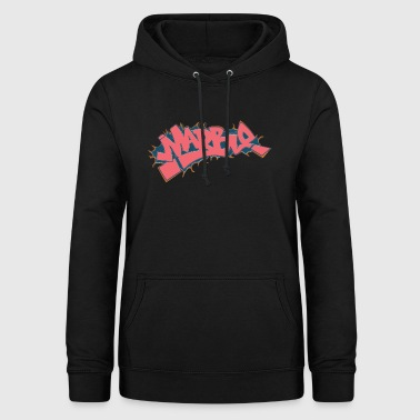 marbre graffiti rouge clair - Sweat à capuche Femme