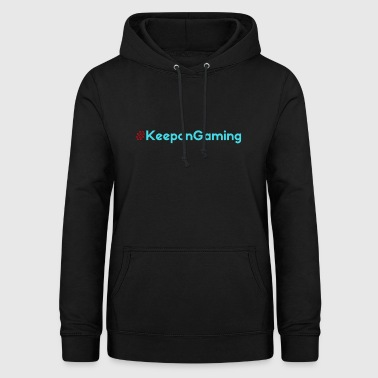 #KeeponGaming Red & Cyan - Women's Hoodie