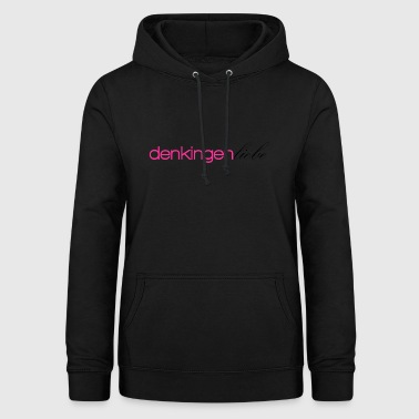 Thinking total love pink - Women's Hoodie