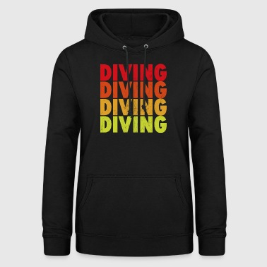 diving - Sweat à capuche Femme