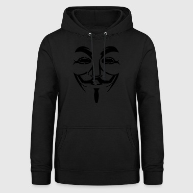 Vendetta mask - Guy Fawkes (Anonymous) - Women's Hoodie