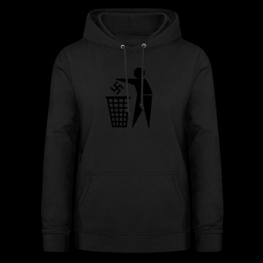 Nazis in the bin - Women's Hoodie