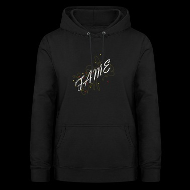 white fame with asterisks - Women's Hoodie