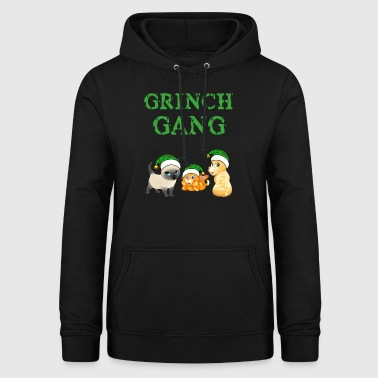 Grinch cat gear Christmas - Women's Hoodie