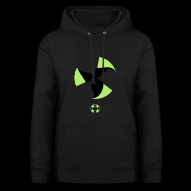 change to green Atomkraft nein windenergie ja - Frauen Hoodie