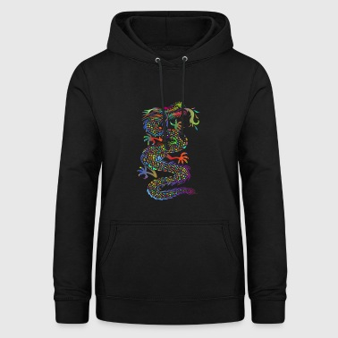 Colorful Chinese fire. Dragon. Gift idea - Women's Hoodie