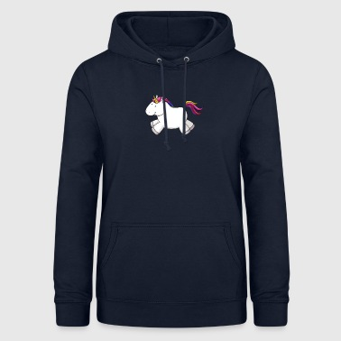 Rennendes Comic Unicorn arc-en- - Sweat à capuche Femme