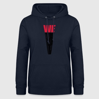 Verein we never give up text we logo team niemals aufgebe - Frauen Hoodie