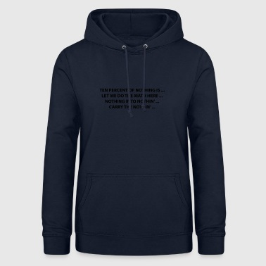 Firefly 10% of nothing - Women's Hoodie