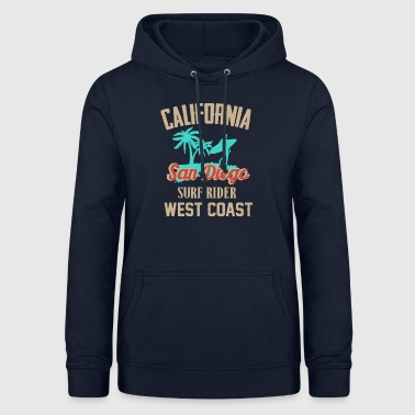 San Diego California surfing by the sea - Women's Hoodie