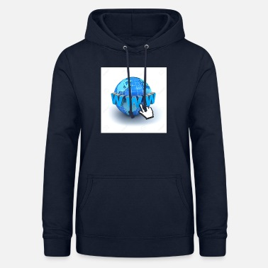 World Wide Web 14821565-Internet World-Wide-Web-Konzept-Erde-glo - Frauen Hoodie