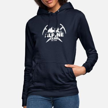 Alpine Club Retro Alpine Club Design - Climbing Rock Climbing - Women's Hoodie