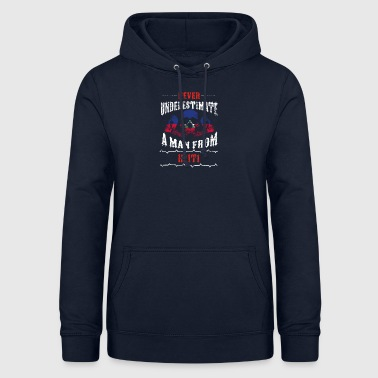 Mathematics never underestimate man HAITI - Women's Hoodie
