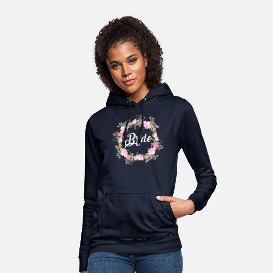 Wedding Hoodies & Sweatshirts - Bride - Women's Hoodie navy