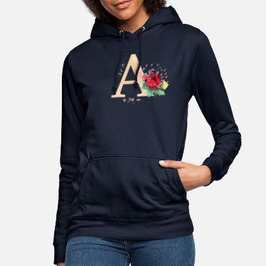 Initial Letter initial letter A initials roses - Women's Hoodie