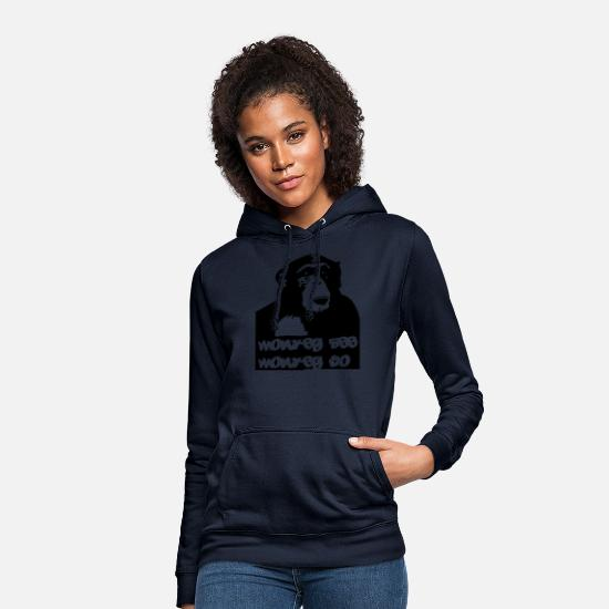 Singe Sweat-shirts - chimpanzé - Sweat à capuche Femme marine