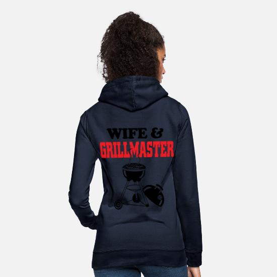 Wife Hoodies & Sweatshirts - WIFE AND GRILLMASTER - Women's Hoodie navy