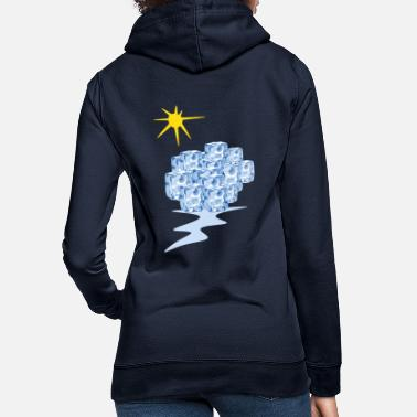Change climate change - melting Ice Block - Frauen Hoodie