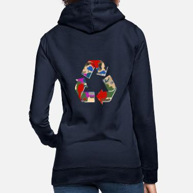 Eco Sustainable symbol sign - Women's Hoodie