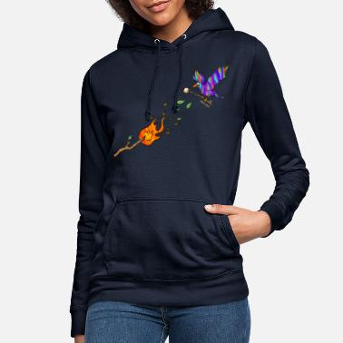 Marshmallow bird with torch - Women's Hoodie