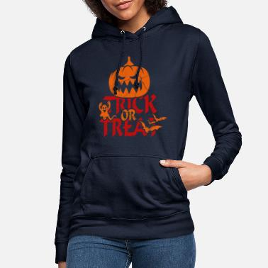 Trick Or Treat Trick or Treat bij Halloween - trick or treat - Vrouwen hoodie