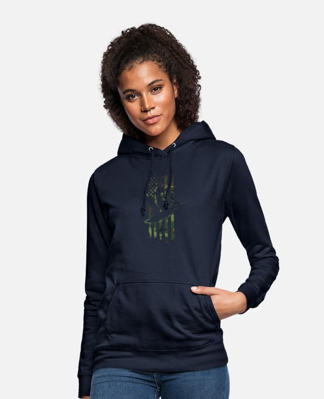 Stag Hoodies & Sweatshirts - Geese Hunting Camoflage And Hunter Gift - Women's Hoodie navy