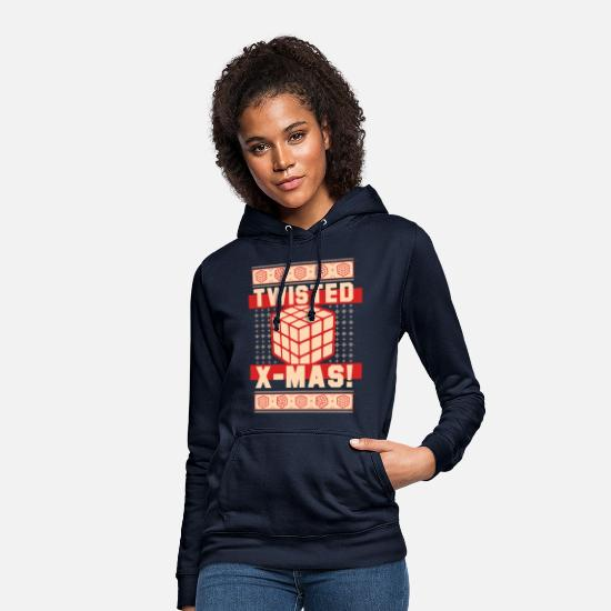 Christmas Hoodies & Sweatshirts - Rubik's Cube Twisted X-Mas - Women's Hoodie navy