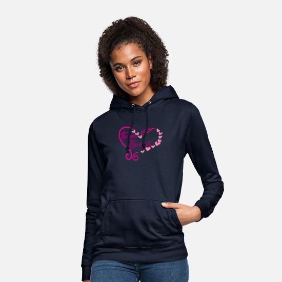 Gold Hoodies & Sweatshirts - Team bride heart marriage gift heart - Women's Hoodie navy