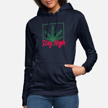 Cero Stay High Cannabis THC Smoke Weed - Sudadera con capucha mujer