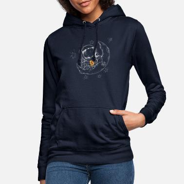 Wall Street Bitcoin To Moon Bitcoin Moon The BTC Logo Crypto - Women's Hoodie