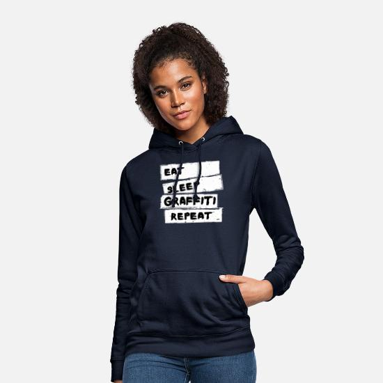 Art Hoodies & Sweatshirts - Graffiti - Graffiti Shirt - Women's Hoodie navy