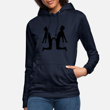 Heart Attack fights fight 2 friends team couple love peni - Women's Hoodie