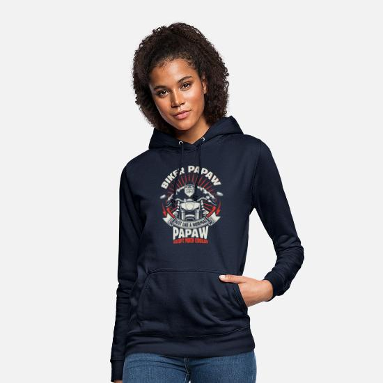 Papaw Hoodies & Sweatshirts - Biker Papaw - Women's Hoodie navy